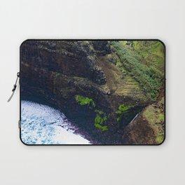 Coastal Cliffs Hawaiian Tropical Beach Laptop Sleeve