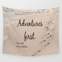 literary Wall Tapestries featuring Adventures Alice Wonderland by KimberosePhotography