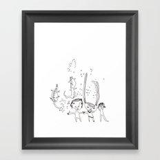 Water Kids Framed Art Print