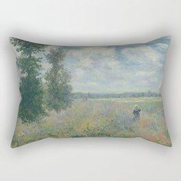 Claude Monet - Poppy Fields near Argenteuil (1875) Rectangular Pillow