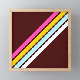 80's Style Retro Stripes Framed Mini Art Print