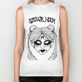 Black Metal Sailor Moon Biker Tank
