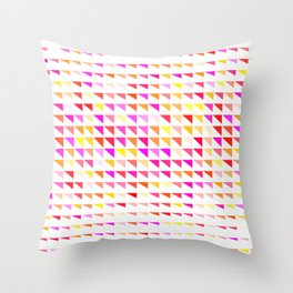 fete triangle pattern Throw Pillow