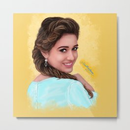 disha patani digital art Metal Print