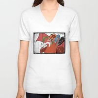 dungeons and dragons V-neck T-shirts featuring DUNGEONS & DRAGONS - TIAMAT by Zorio