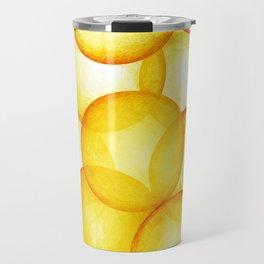 PLAYFUL ORANGE SPHERES Travel Mug