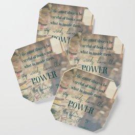 The power of books - Book Quote Collection Coaster