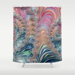 Spiraling Fractal Shower Curtain