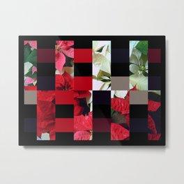 Mixed color Poinsettias 1 Art Rectangles 15 Metal Print