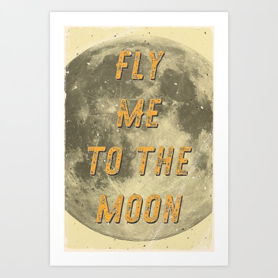 Fly me to the Moon - A Hell Songbook Edition Art Print