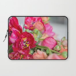 Fiery Red Flowers Laptop Sleeve