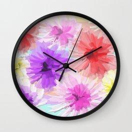 Floral Depth 2 Light Wall Clock