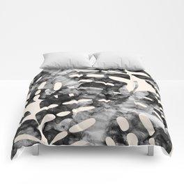 Minimalist tropical watercolor I Comforters