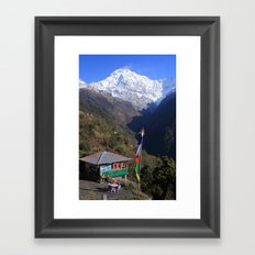 Annapurna South, Himalayas, Nepal Framed Art Print