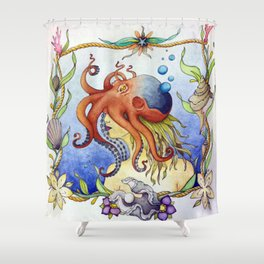 Octopus Wench Shower Curtain