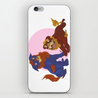 pit bull iPhone & iPod Skins featuring Pit Bull Shisa Guardians by AlliePets