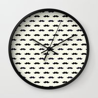 moustache Wall Clocks featuring *Moustache* by Mr and Mrs Quirynen