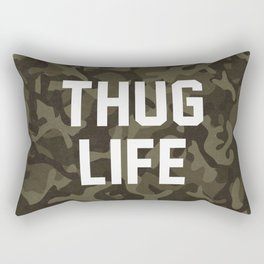 Thug Life - camouflage version Rectangular Pillow