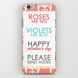 Funny Valentines Day for Adults iPhone Skin