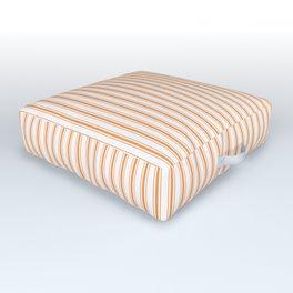 Bright Orange Russet Mattress Ticking Narrow Striped Pattern - Fall Fashion 2018 Outdoor Floor Cushion