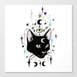 Black Cat Magic Canvas Print