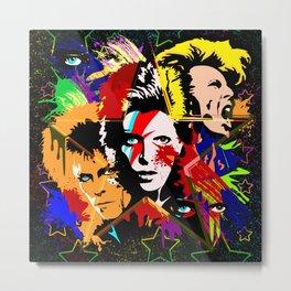 Bowie PopArt Metamorphosis Metal Print