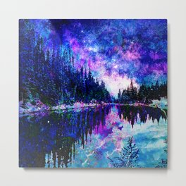 Cobalt Galaxy Lake Metal Print