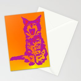 Screaming Kitten (Gradient) Stationery Cards
