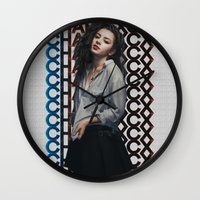 charli xcx Wall Clocks featuring Charli XCX  by Illuminany