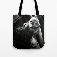 donkey Tote Bags featuring donkey by chicco montanari