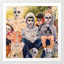 Esperando de El Desfile (Waiting for the Parade) Art Print