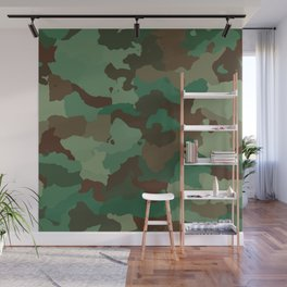 Forest camoflauge pattern Wall Mural