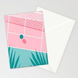Jock - tennis sport retro neon throwback palm springs los angeles hollywood california sunny pop art Stationery Cards