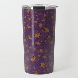 Adorable bats for Halloween (Purple) Travel Mug