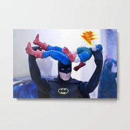 Captain America in Trouble 3 Metal Print