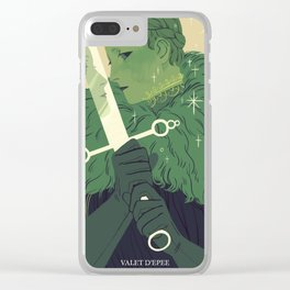Page of Swords Clear iPhone Case