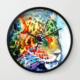 Rainbow Jaguar on the Prowl Wall Clock