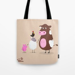 We Farm Animals Should Stick Together Tote Bag