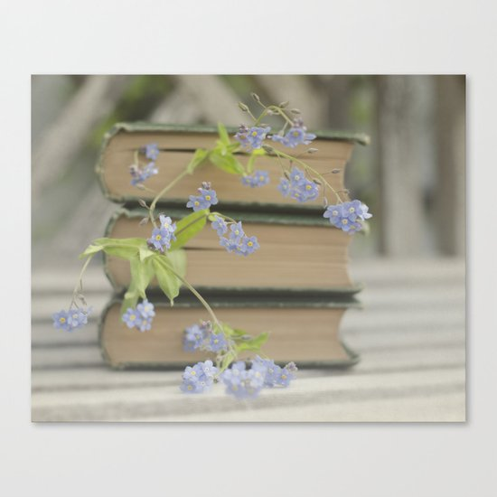 Forget Me Not Bookmark Canvas Print