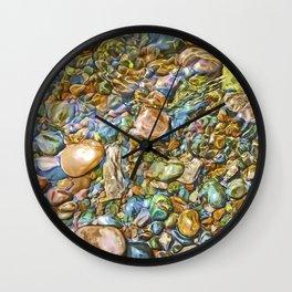Baptism River Rocks Wall Clock