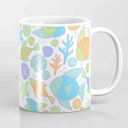 Colorful Tropical Fish Pattern / Coastal Decor Coffee Mug
