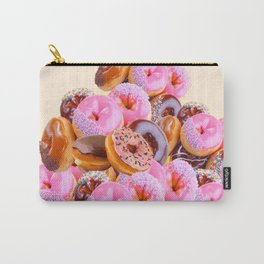 PHOTO PINK & CHOCOLATE  DONUTS ART Carry-All Pouch