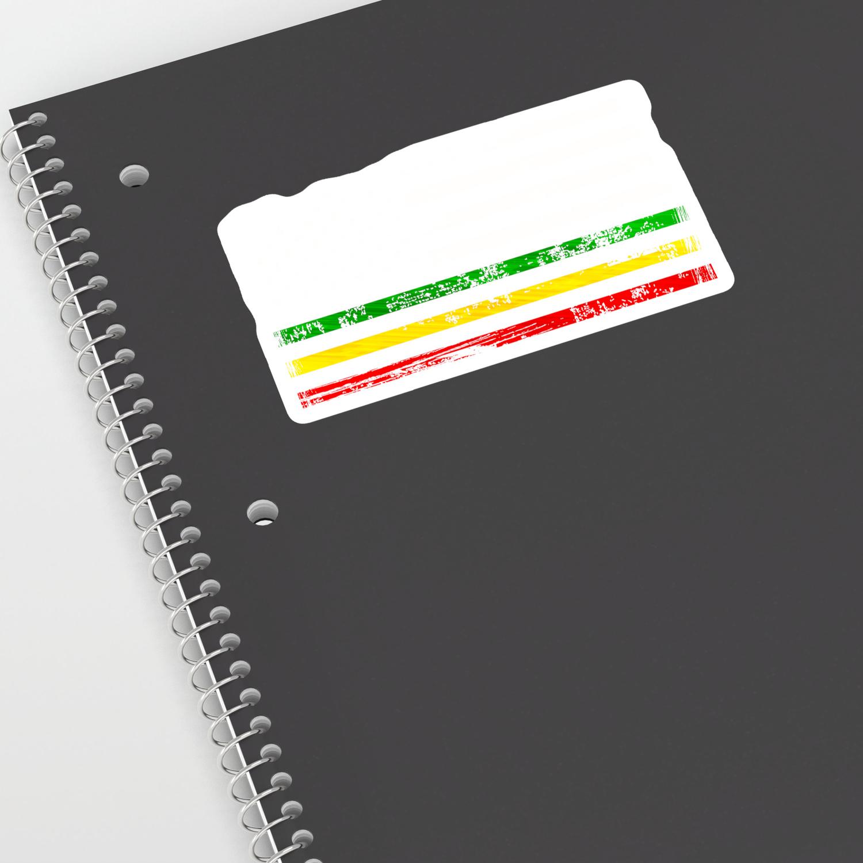 African american flag design gift africa rasta reggae flag sticker by dc designstudio