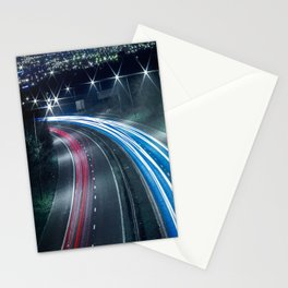 Tron like Light Trail Stationery Cards