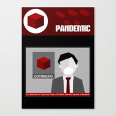 Pandemic - Red Canvas Print