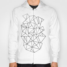 Abstract Outline Black on White Hoody