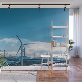 The Wind Farm (Color) Wall Mural