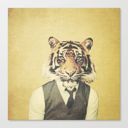 Humanimal: Tiger Canvas Print