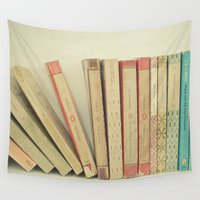 bookworm Wall Tapestries featuring Falling by Cassia Beck
