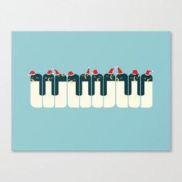 The Penguin Choir Canvas Print